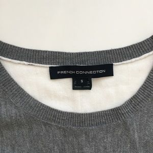 French Connection Sweaters - French Connection Gray Colorblock Sweater